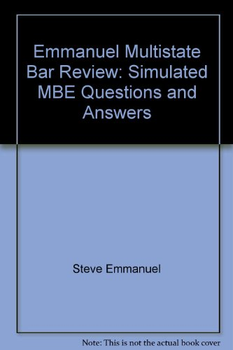 9780735579514: Emmanuel Multistate Bar Review: Simulated MBE Questions and Answers