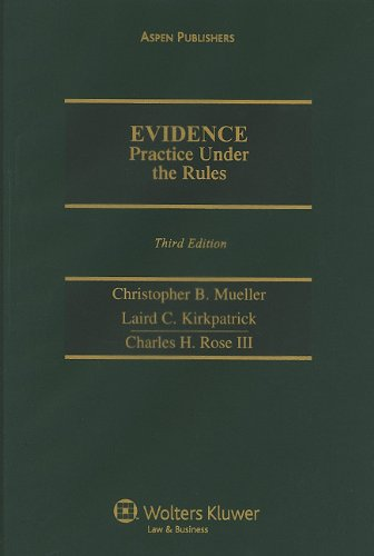 9780735580954: Evidence Practice Under Rules: 2009 Cumulative Supplement