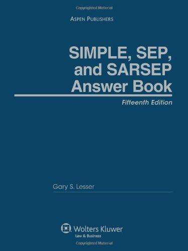 9780735581739: SIMPLE SEP SARSEP Answer Book 15th Edition