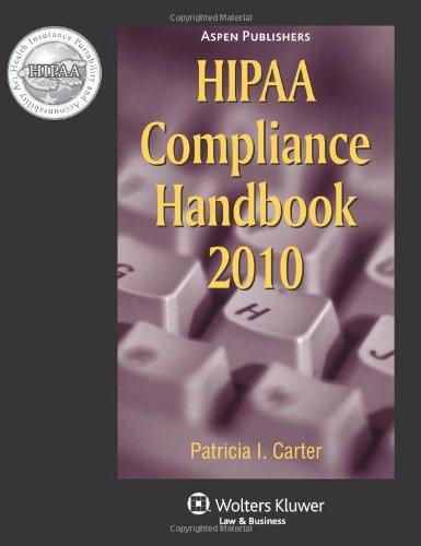 9780735582224: HIPAA Compliance Handbook 2010 Edition