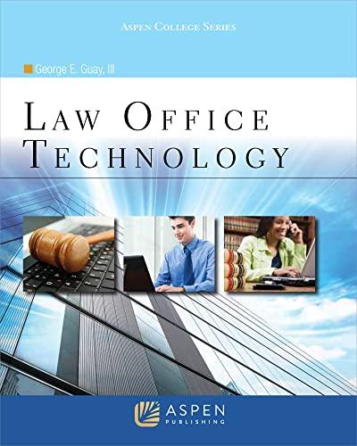9780735583160: Law Office Technology (Aspen College)