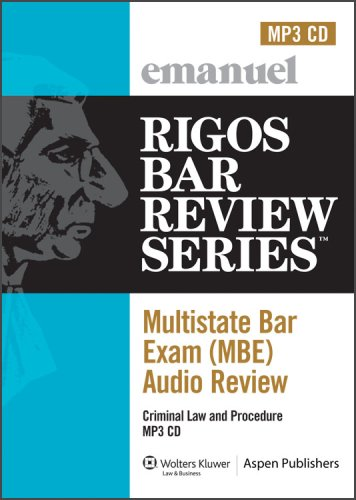 9780735583535: MBE Audio: Criminal Law (Rigos Bar Review Series: Multistate Bar Exam Audio Review (MBE))