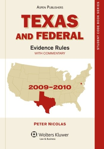 9780735583641: Texas and Federal Evidence Rules (State Code Series)