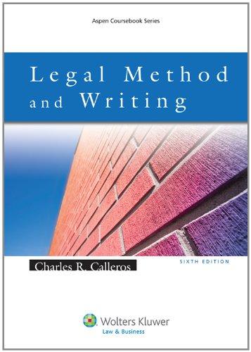 9780735585126: Legal Method & Writing 6e