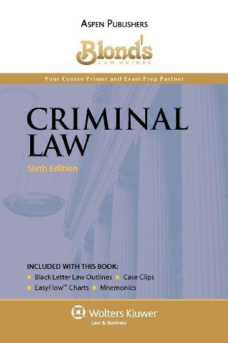 9780735586147: Blond's Law Guides: Criminal Law