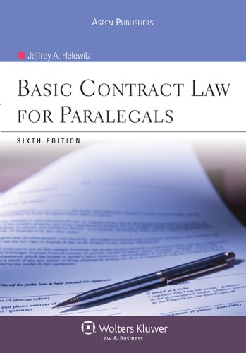 9780735587267: Basic Contract Law for Paralegals, Sixth Edition