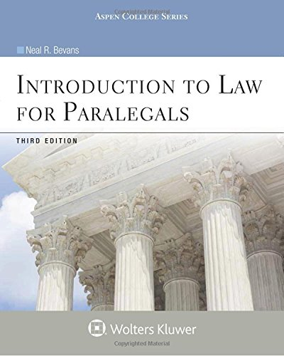 9780735587632: Introduction to Law for Paralegals, Third Edition (Introduction to Law Series) (Aspen College)