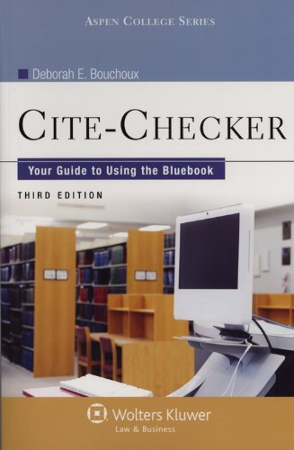 9780735587663: Cite-Checker: Your Guide to Using the Bluebook, Third Edition (Aspen College)