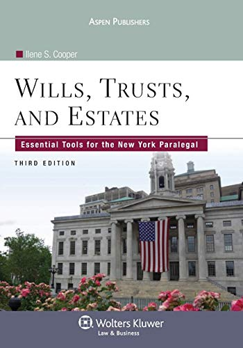 9780735587700: Wills Trusts & Estates: Essential Tools for Ny Paralegal 3e (Aspen College)
