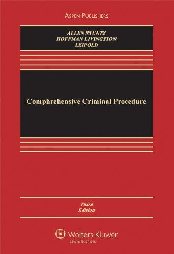 Comprehensive Criminal Procedure, 3rd Edition: Ronald Jay Allen,
