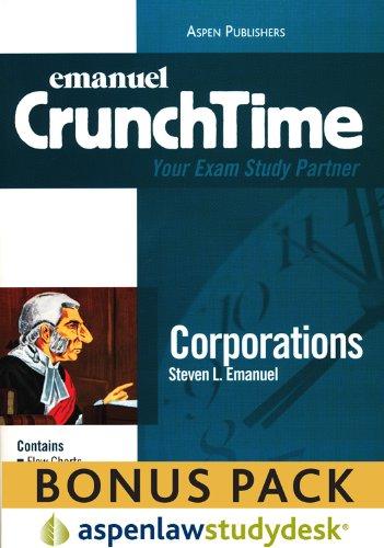 9780735587854: CrunchTime: Corporations (Print + eBook Bonus Pack): Corporations Studydesk Bonus Pack