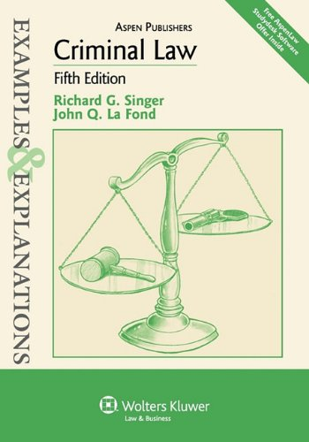 9780735588295: Criminal Law: Examples & Explanations, 5th Edition
