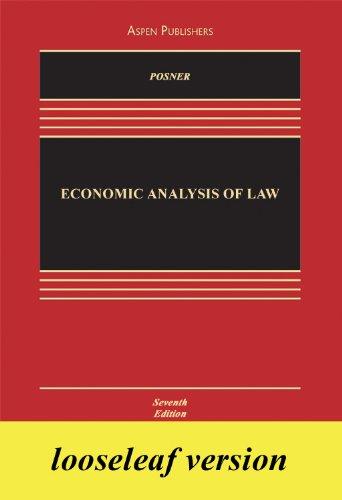 9780735588936: Economic Analysis of Law Looselead Insert Edition