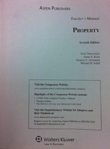 9780735589001: Property: Seventh Edition: TEACHER'S MANUAL