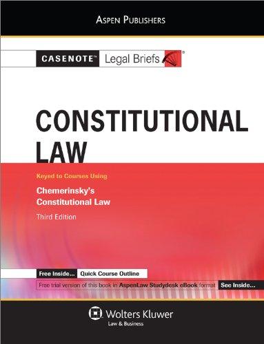 9780735589100: Casenotes Audio: Constitutional Law Chemerinsky 2e