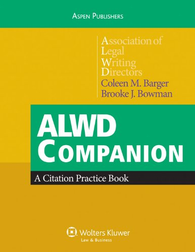 9780735589292: ALWD Companion: A Citation Practice Book