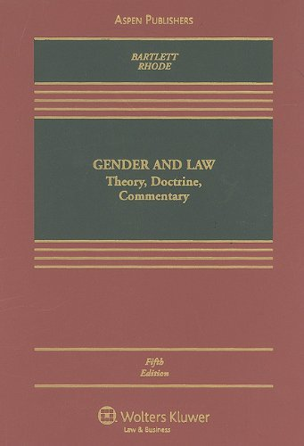 9780735589315: Gender & Law: Theory, Doctrine, Commentary, Fifth Edition