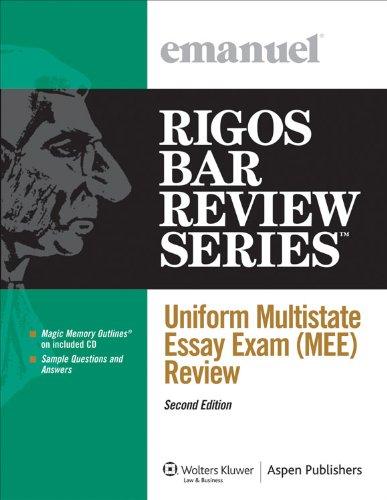9780735589704: Uniform Multistate Essay Exam (MEE) Review, Second Edition (Rigos Bar Review Series)