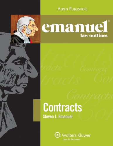 9780735589933: Emanuel Law Outlines: Contracts