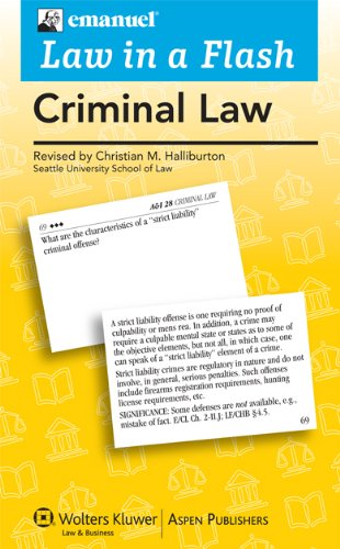 9780735589995: Criminal Law (Law in a Flash)