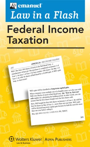9780735590014: Law in a Flash Cards: Federal Income Tax, 2010