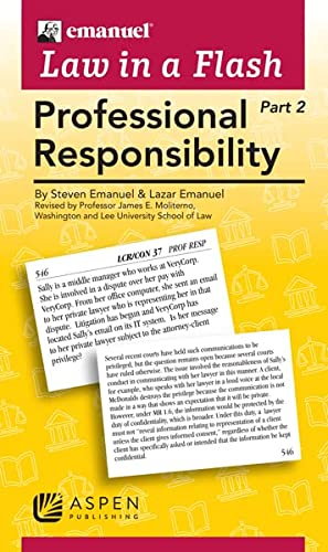 9780735590021: Law in a Flash Cards: Professional Responsibility (2-part set)