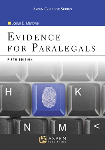 9780735590137: Evidence for Paralegals (Aspen College)
