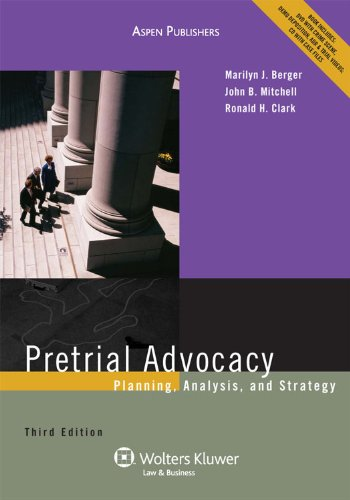 9780735590236: Pretrial Advocacy: Planning Analysis & Strategy 3e