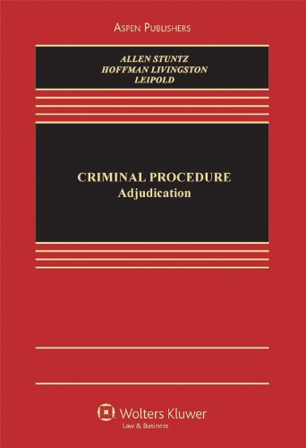 9780735590250: Criminal Procedure: Adjudication (Aspen Casebooks)