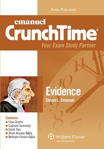 9780735590458: Evidence (Emanuel CrunchTime), 4th Edition
