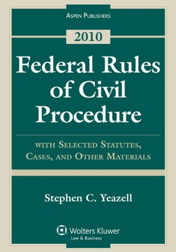 9780735590687: Federal Rules Civil Procedure with Select Statutes & Material 2010