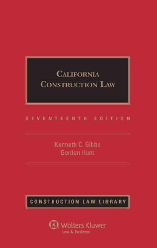 9780735592575: California Construction Law 17e (Construction Law Library)