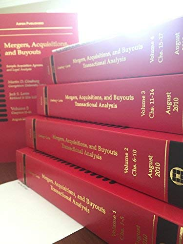 9780735593336: Mergers, Acquisitions, and Buyouts, August 2010: Five Volume Print Set