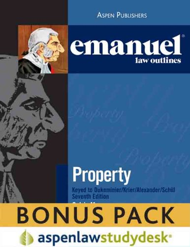 9780735595804: Emanuel Law Outlines: Property (Print + eBook Bonus Pack)