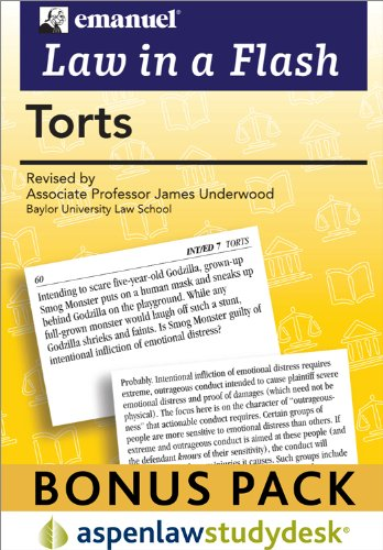 9780735595873: Torts (Law in a Flash Cards)