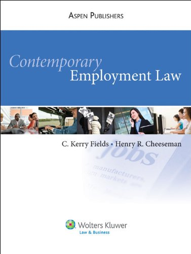 9780735596443: Contemporary Employment Law