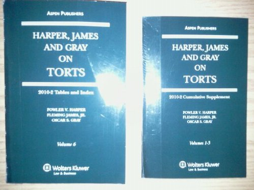 9780735596900: Harper, James and Gray on Torts (2010-2 Tables and Index with 2010-2 Cumulative Supplement Volumes 1-5. Two books Set., Volume 6)
