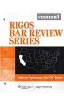 9780735597334: California Multistate Set: Multistate Bar Exam (MBE) Review / California Performance Test (CPT) Review / California Essay Exam (CEE) Review (Rigos Bar Review)