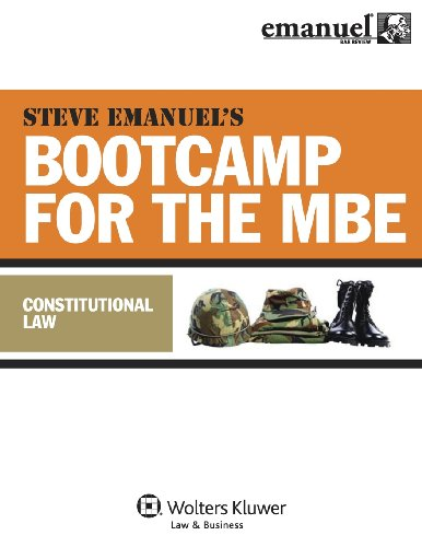 9780735597389: MBE Bootcamp: Constitutional Law (Emanuel Bar Review)