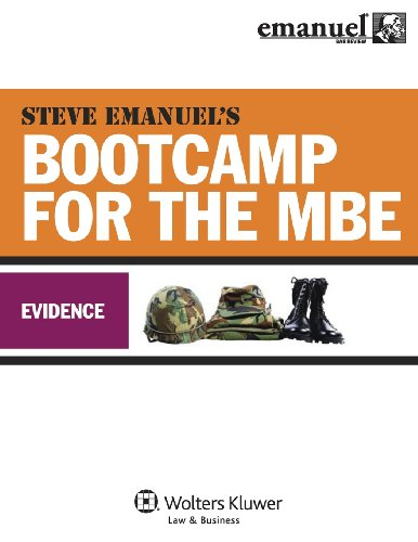9780735597402: MBE Bootcamp: Evidence (Bootcamp for the Mbe)
