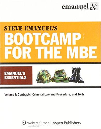 9780735597426: Mbe Bootcamp : Emanuels Essentials Vol 1: Contr Crim Law Pro Torts