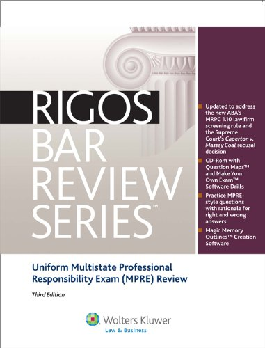 9780735597884: Multistate Professional Responsibility Exam (MPRE) Review, 3rd Edition (Rigos Bar Review Series)