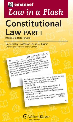 9780735598027: Law in a Flash Cards: Constitutional Law I