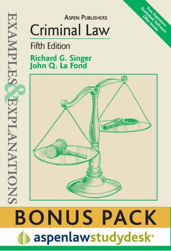 9780735598270: Examples & Explanations: Criminal Law, 5th Ed., (Print + eBook Bonus Pack)