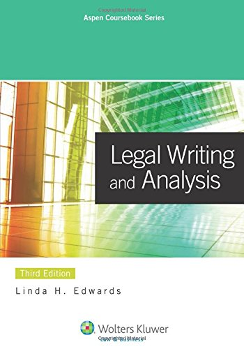 9780735598508: Legal Writing & Analysis, 3rd Edition (Aspen Coursebook) (Aspen Coursebooks)