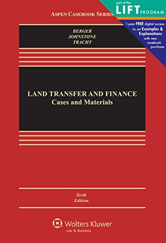 9780735598546: Land Transfer and Finance: Cases and Materials (Aspen Casebook)