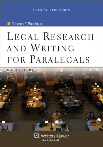 9780735598652: Legal Research & Writing for Paralegals, 6th Edition (Aspen College Series)