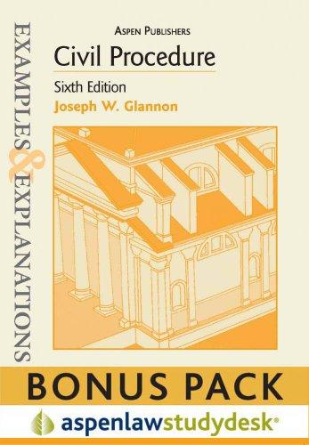 9780735599376: Civil Procedure (Examples & Explanations)