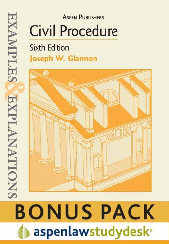 9780735599376: Civil Procedure: Examples & Explanations 6e Studydesk Bonus Pack