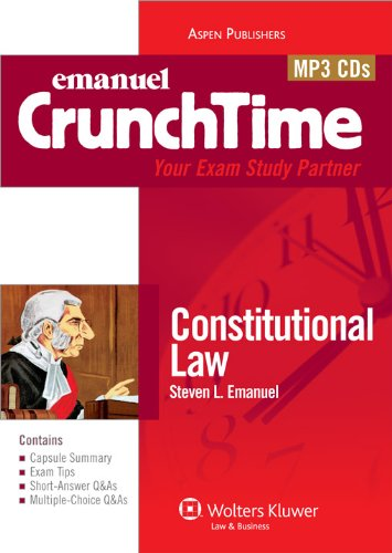 9780735599482: Crunchtime Audio: Constitutional Law 9e